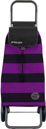 Сумка-тележка хозяйственная фиолетово-чёрная Rolser LOGIC RG PAC013lila/negro