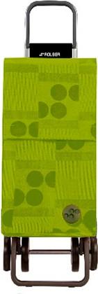 Сумка-тележка хозяйственная зелёный лайм Rolser DOS+2 PAR015lima