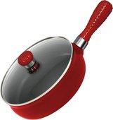 Сковорода керамическая со стеклянной крышкой, 2.0л, красная, 24см Ceraflame PREMIERE F22161419
