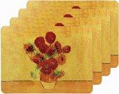 Подставки на пробке Ван Гог Подсолнухи 4шт 30x20см The Leonardo Collection LP92774