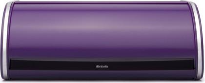 Хлебница стальная с крышкой, фиолетовая Brabantia 484643