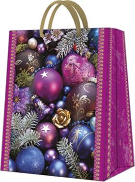 """Пакет подарочный """"Фиолетовая композиция"""" 26.5x33.5x13см Paw AGB028705"""