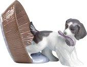 Статуэтка фарфоровая Играющий Щенок (Puppy Playtime) 9см NAO 02001590