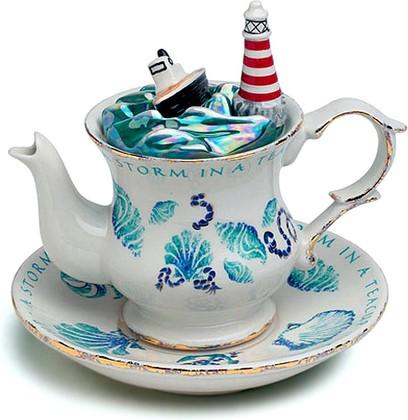 "Чайник коллекционный ""Буря в стакане"" (Storm in a Teacup Teapot) The Teapottery 4458"