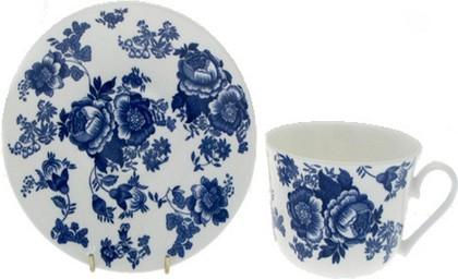 """Чайная пара для завтрака """"Викторианская роза голубая"""" 500мл Roy Kirkham XBLVIC1100"""