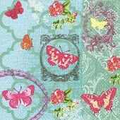 Салфетки Сад бабочек, 33x33см, 20шт Paper+Design 200041