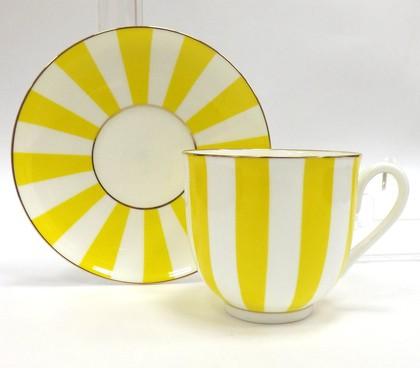 "Чашка с блюдцем ""Да и нет"" (жёлтый), ф. Ландыш ИФЗ 81.16678.00.1"