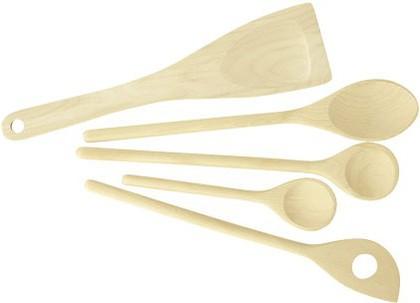 Набор из 4 деревянных ложек и лопатки Tescoma 637428