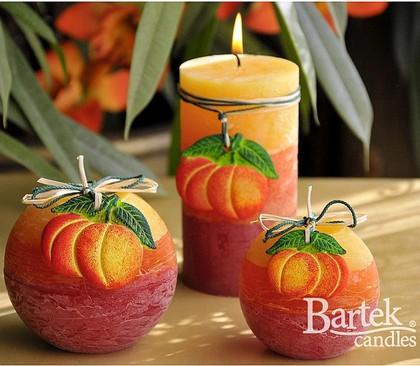 "Bartek Candles FRUITS RUSTIC Свеча ""Спелые фрукты"" - образ коллекции A, пирамида 70х70х240мм, артикул 5907602647808"