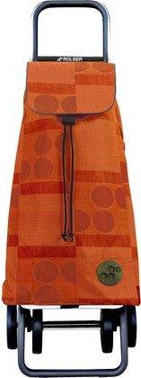 Сумка-тележка хозяйственная оранжевая Rolser DOS+2 MOU040mandarina