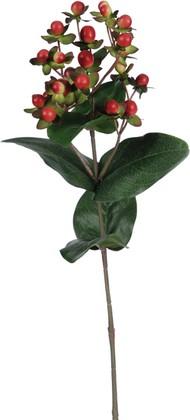 """Цветок искусственный """"Гиперикум красный"""" 23 ягоды, 72см Floralsilk P14216RED"""
