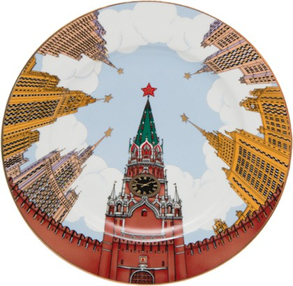 Тарелка декоративная Звезды Москвы, ф. Mazarin ИФЗ 80.85232.00.1