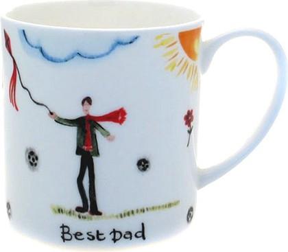 """Just Mugs Кружка под названием """"Родные и близкие"""" (Best Dad), форма кружки названа """"Бадди"""" (Buddy), 400мл"""