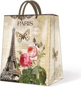 """Пакет подарочный """"Солнечный Париж"""" 26.5х13х33.5см Paw AGB018305"""