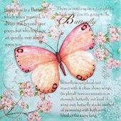 Салфетки Стихи о Бабочке, 33x33см, 20шт Paper+Design 200225