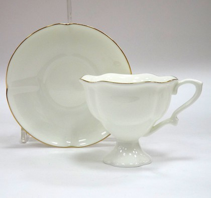 Чашка кофейная с блюдцем Золотая лента, ф. Наташа ИФЗ 81.20694.00.1