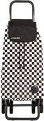 Сумка-тележка хозяйственная чёрно-белая Rolser LOGIC DOS+2 PAC074blanco/negro