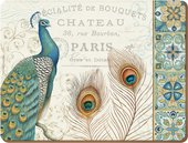 Подставки на пробке Парижский павлин 30х23см, 6шт Creative Tops 5164354