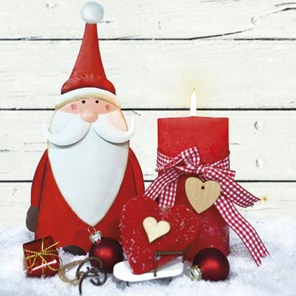 Салфетки Санта Клаус 3-сл., 20шт 33x33см Paw TL655000