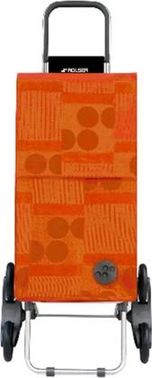 Сумка-тележка хозяйственная оранжевая Rolser RD6 PARIS PAR026mandarina