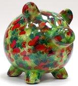 Копилка Свинья PEGGY зелёная с бабочками Pomme-Pidou 148-00025/1