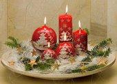 "Свеча ""Альпина"" пирамида 8х8х33cм Bartek Candles 5907602646801"