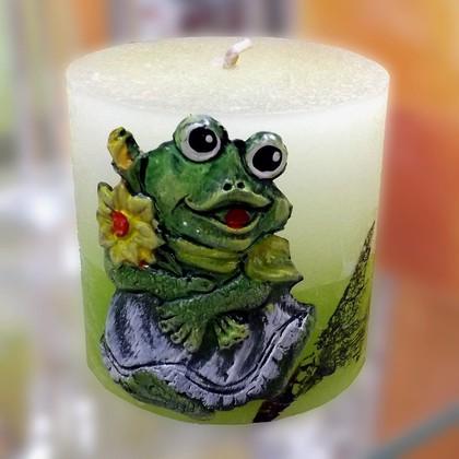 """Свеча """"Лягушка"""", колонна 7х8см Bartek Candles 235011"""