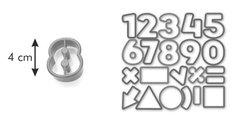 Формочки для печенья цифры, 21шт. Tescoma DELICIA Kids 630926
