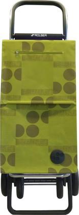 Сумка-тележка хозяйственная зелёный лайм Rolser QUATTRE.2 SBE002lima