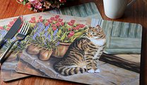"""Подставки на пробке """"Домашний кот"""" 29x22см, 6шт Creative Tops TM1491MUV"""