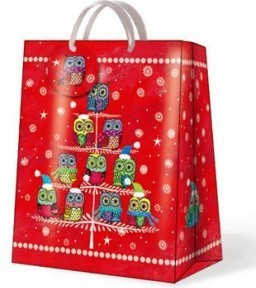 "Пакет подарочный ""Зимние совята"" 30х12х41см Paw AGB016402"