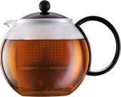 Чайник заварочный с прессом (френч-пресс), 1.0л, чёрный Bodum ASSAM 1844-01