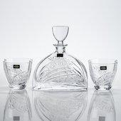 Набор для виски Херитейдж-Нэмо (Комета) графин 700 мл+ 2 стакана 320 мл Crystalite Bohemia 99999/9/35003/128