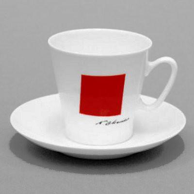 Чашка с блюдцем Красный квадрат, ф. Чёрный кофе ИФЗ 81.15877.00.1