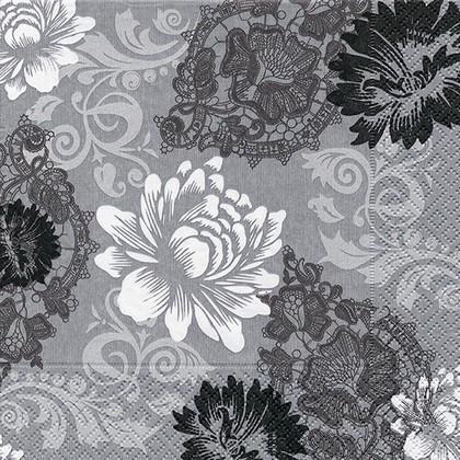 Салфетки для декупажа Цветочный орнамент, 33x33см, 3 слоя, 20шт Paper+Design 21466