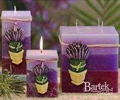 """Свеча """"Лаванда"""" блок 7х7х14cм Bartek Candles 140022"""