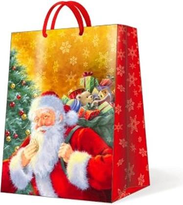 "Paw SMILING SANTA CLAUS Пакет подарочный ""Улыбающийся Санта"", 30x41x12см, артикул AGB012502"