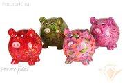 Копилка Свинья BIG PEGGY XL розовая с сердечками Pomme-Pidou 148-00026/3