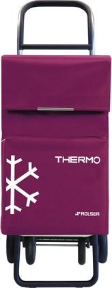 Термосумка-тележка хозяйственная сиреневая Rolser QUATTRE.2 THERMO TER039bassi