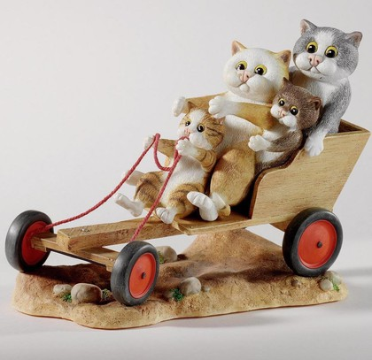 "Enesco - Comic & Curious Cats - ""Вперёд, картинг!"" (Go Karting), 15,5х13см, артикул A22913"