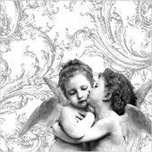 Салфетки Ангелы ренессанса, серебристый, 33x33см, 3 слоя, 20шт Paw SDL001708