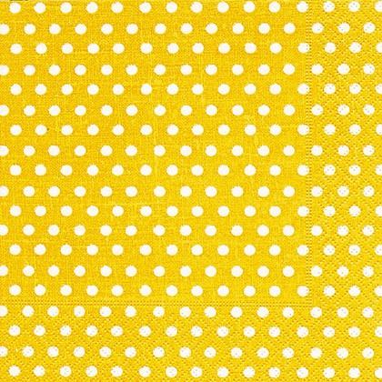 Салфетки для декупажа Желтый горох, 33x33см, 3 слоя, 20шт Paper+Design LN0466