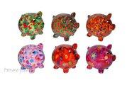 Копилка Свинья PEGGY розовая с сердечками Pomme-Pidou 148-00025/2
