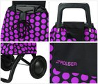 Сумка-тележка хозяйственная чёрно-фиолетовая Rolser RG MOUNTAIN MOU047lila/negro