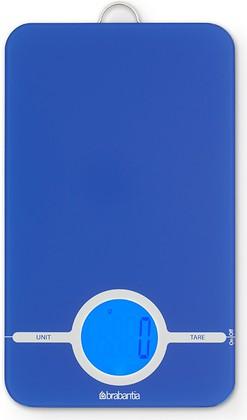 Цифровые кухонные весы 5кг/1г из нержавеющей стали синего цвета Brabantia 482588