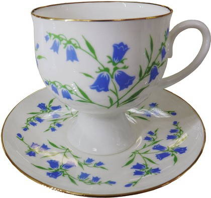 Чашка с блюдцем Колокольчики, ф. Классическая-2 ИФЗ 81.15362.00.1
