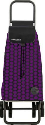 Сумка-тележка хозяйственная фиолетово-чёрная Rolser LOGIC DOS+2 PAC006lila/negro