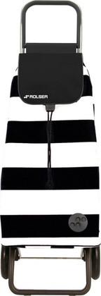 Сумка-тележка хозяйственная бело-чёрная Rolser LOGIC RG PAC013blanco/negro