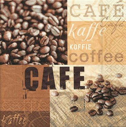 Салфетки коктейль Кофейная галлерея, 25x25см, 3 слоя, 20шт Paper+Design 11321