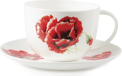 """Чайная пара для завтрака """"Маки"""" 400мл Roy Kirkham XGPOP1165"""